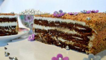 Шоколадный торт с творожным сыром без выпечки, рецепт с фото