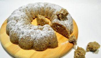 Ореховый кекс в микроволновке за 15 минут, рецепт с фото