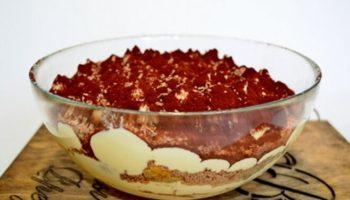 Шоколадный тирамису с коньяком, рецепт с фото