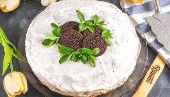 Блинный торт «Орео»