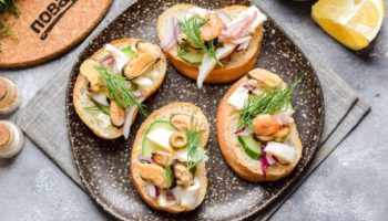 Бутерброды с морепродуктами