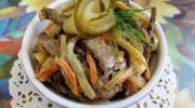 Салат из говяжьей печени с огурцами и морковкой