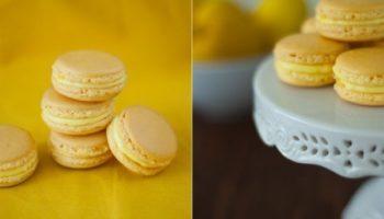 Лимонные macarons
