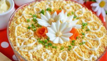 Слоеный салат «Печенкин»