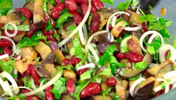 Овощной летний салат «Дон Баклажан»