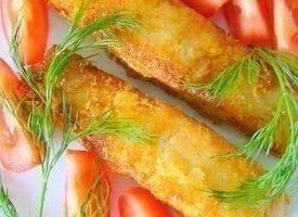 Семга в хрустящей картофельной панировке
