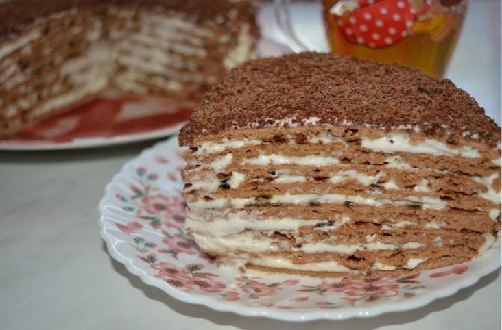 Шоколадный тортик на сковороде