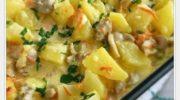 «Сливочный» картофель с курицей