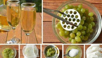 Белое полусладкое виноградное вино