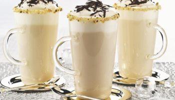 Замороженный белый «горячий» шоколад