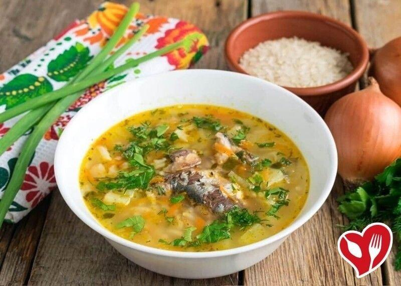 Рыбный суп с риcoм