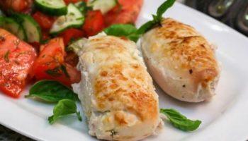 Рулеты из курицы с зеленью и сыром