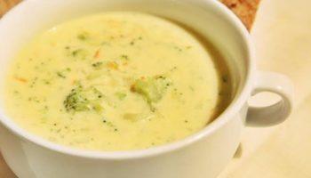 Сырный суп с овощами