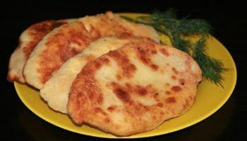 Лепешки с картошкой и сыром