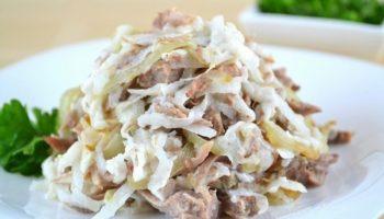 Салат «Узбекистан» с говядиной и редькой