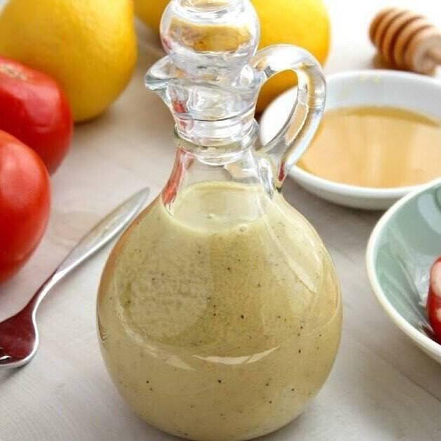 Медово-горчичный соус - находка для овощных салатов!