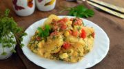Пряный картофельный салат с укропом
