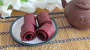 Домашняя яблочно-сливовая пастила, без консервантов.
