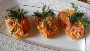 Закуска на чипсах «Сытная»