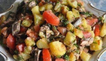 Салат со шпротами — необычно!