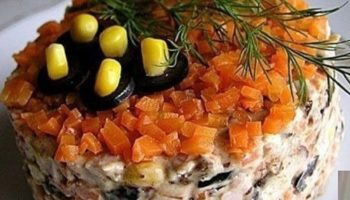 Очень вкусный и простой салатик!
