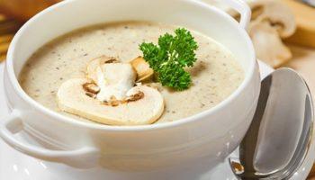 Вкусный крем-суп из шампиньонов