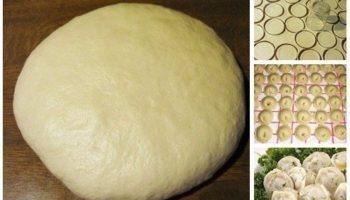 Тесто на пельмени и вареники