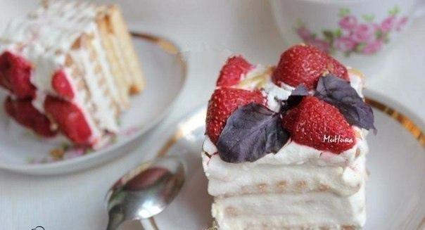 Торт из печенья и творога